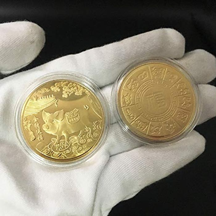 Creative 2019 Pig Year Commemorative Coin Gilding FREE DELIVERY