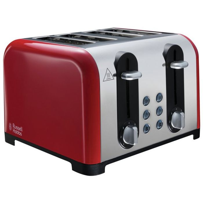 Russell Hobbs 22406 Worcester 4 Slice Toaster - Red by Russell Hobbs