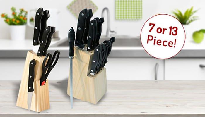 Knife Block Sets Best Price - 7-Piece or 13-Piece