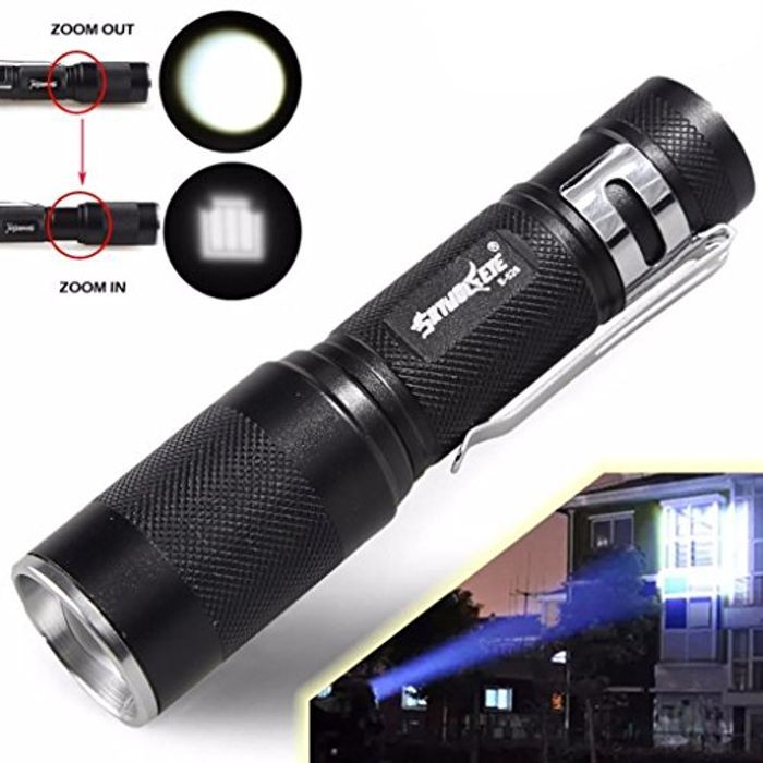Toamen 4000LM Zoomable CREE XM-L Q5 LED Flashlight