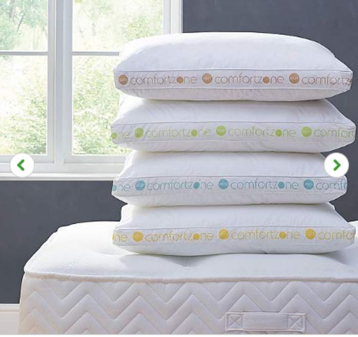 Comfort Zone Hollowfibre Firm-Support Walled Pillow Only £9.60