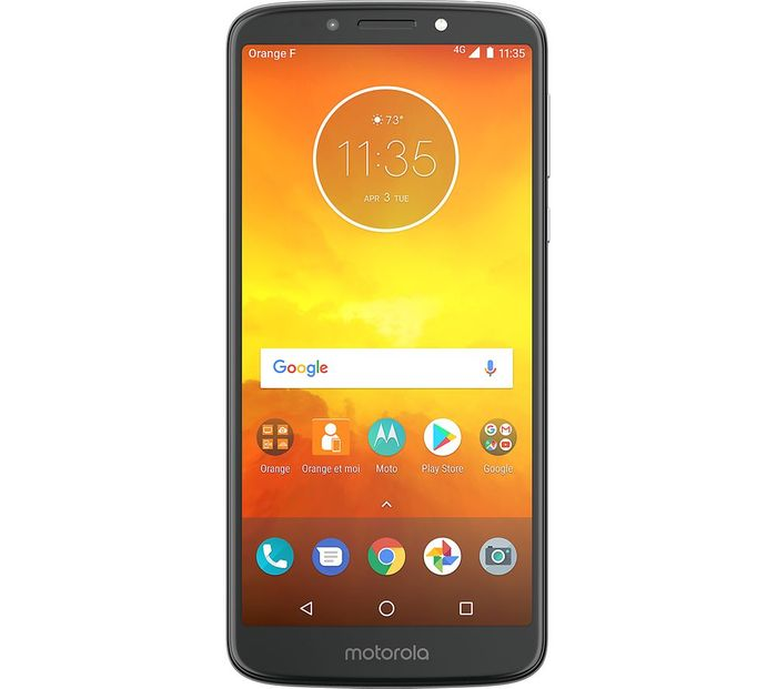 "Motorola E5 Smartphone, Android, 5.7"", 4G LTE, SIM Free, 16GB, Flash Grey"