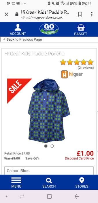 Hi Gear Kids' Puddle Poncho | GO Outdoors