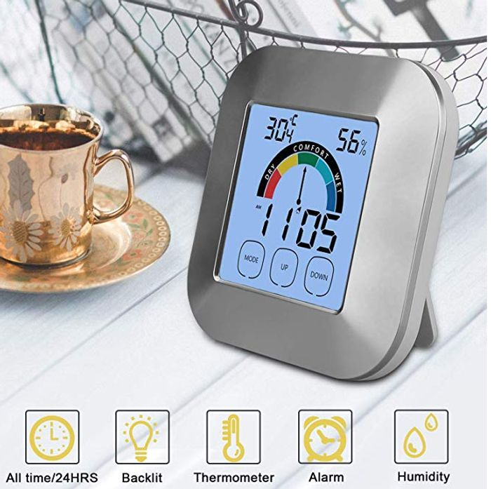 Touch Screen Indoor Thermometer Humidity Monitor