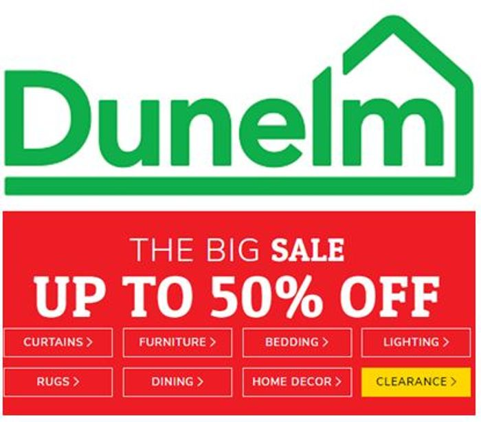DUNELM SALE - up to 50% OFF Home Decor, Bedding, Furniture etc.