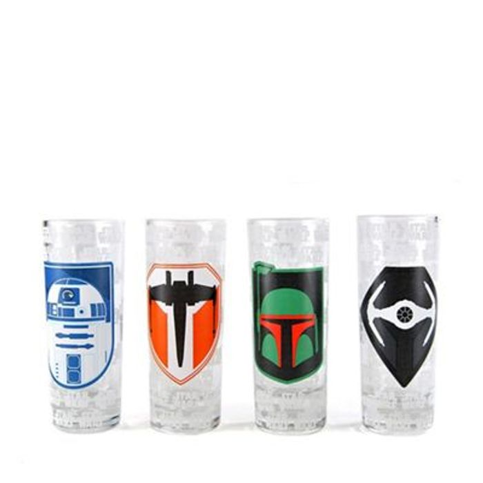 Star Wars - Set of 4 Icon Mini Drinking Glasses