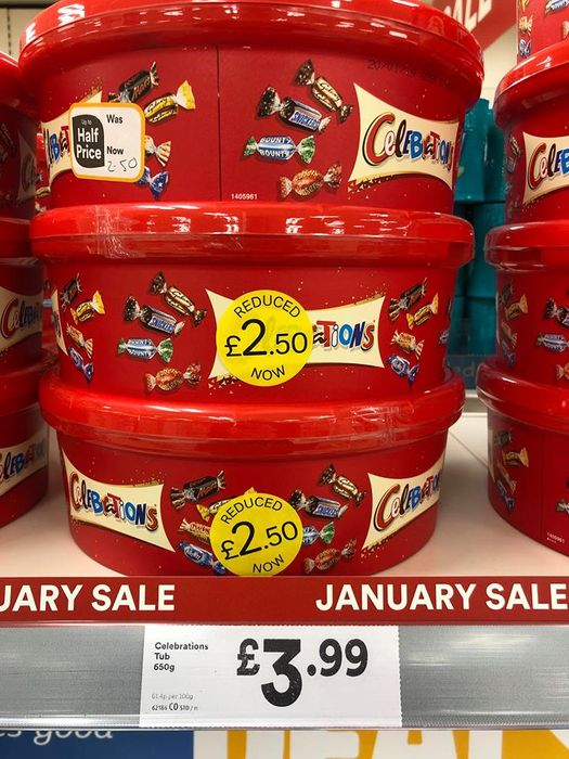 Celebration / Heros Just £2.50 a Tub Instore Iceland