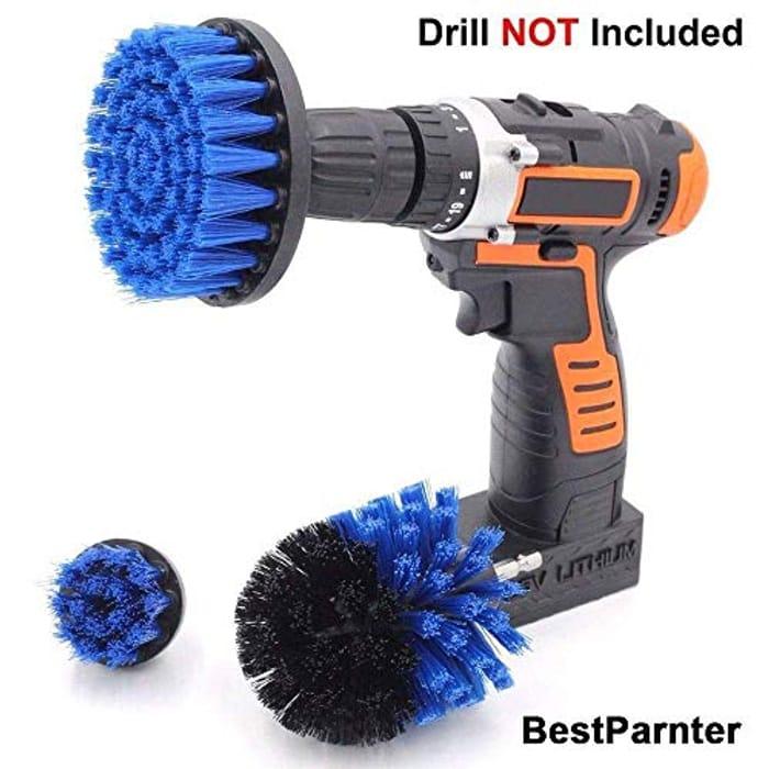 BestParnter Drillbrush 3Pcs Scrub Brush Drill Attachment Kit,