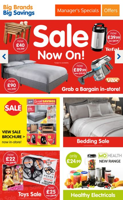 B&M Sale Now On!