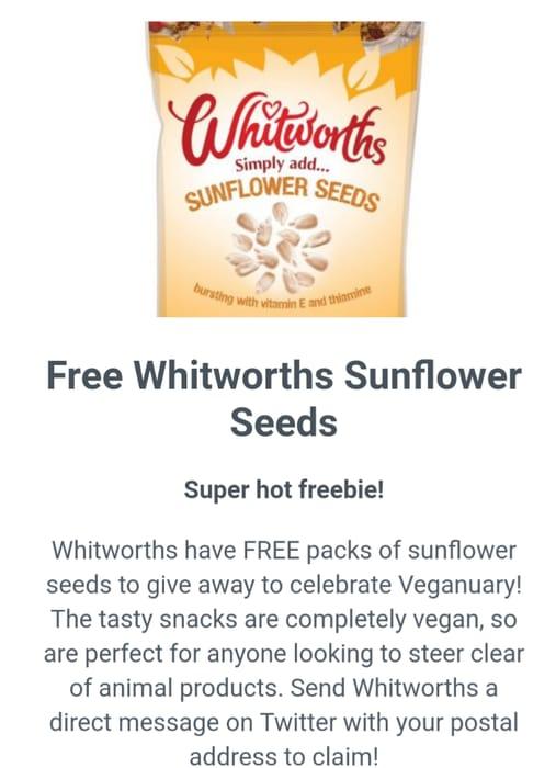Free Witworths Sunflower Seeds