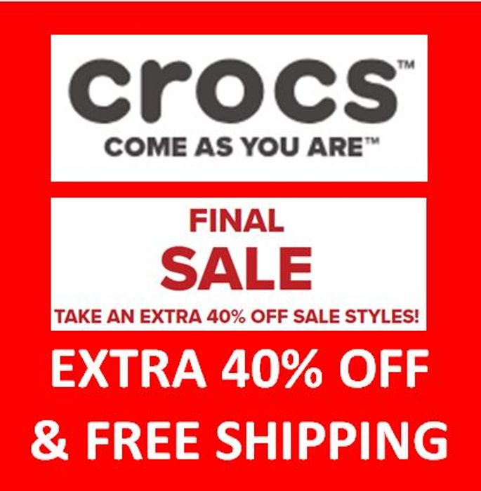 Grab a Bargain! EXTRA 40% OFF Sale Prices Now at Crocs & FREE DELIVERY!