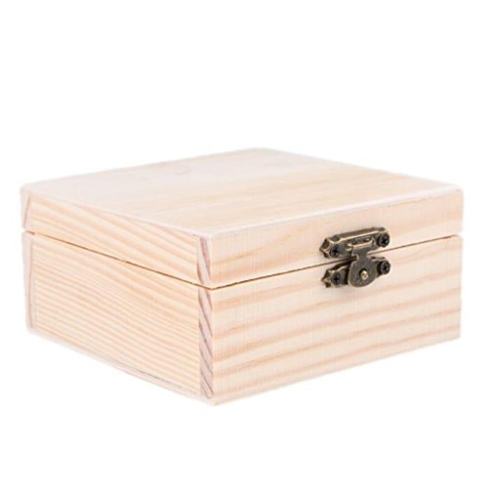 Small Wooden Jewellery Box Case