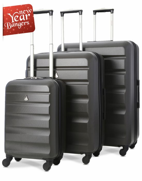 Aerolite ABS325 ABS Hard Shell Luggage Suitcase 3-Piece Set (21/25/29)