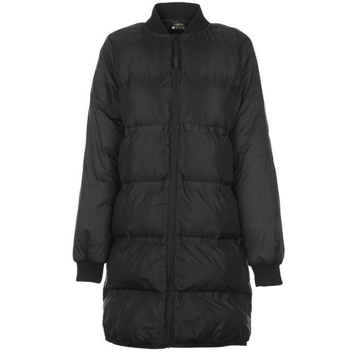 Everlast Long Bomber Jacket Ladies (Khaki or Black)