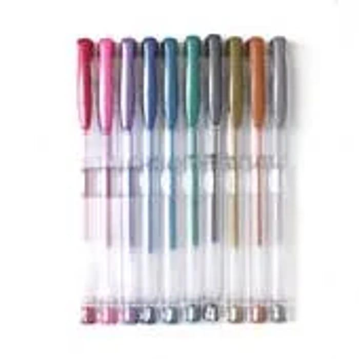 Metallic Gel Pens 10 Pack
