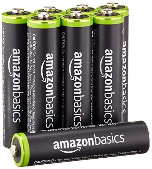 AmazonBasics AAA Pre-Charged Rechargeable Batteries 800 mAh / Minimum: 750 mAh