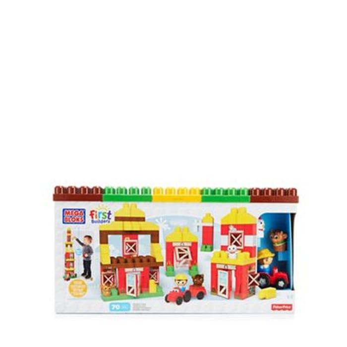 Mega Block Farm Building Construction Toy 70% off @Debenhams
