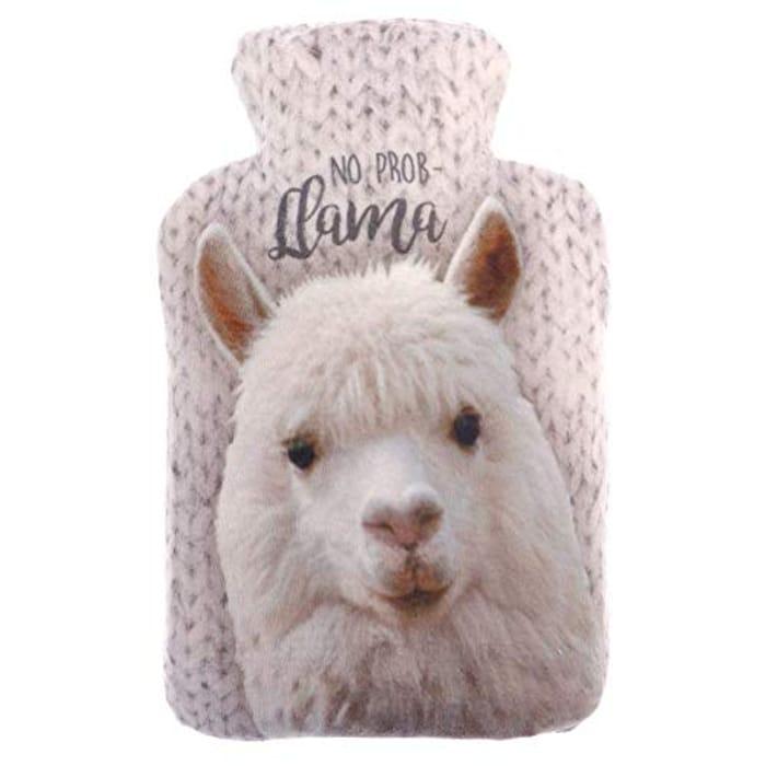 Microwave Wheat Bag Warmer Plush Velour Hot Heat Pack (No Prob Llama)