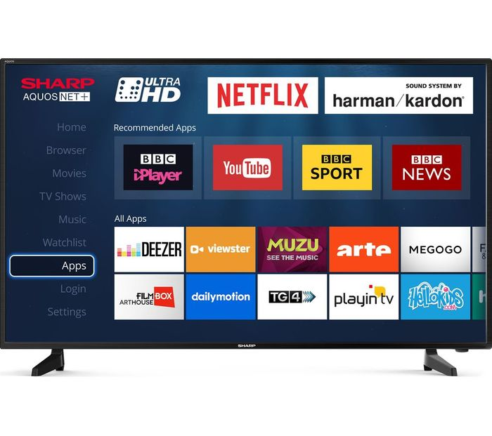 SHARP 40inch Smart Ultra HD HDR LED 4K TV