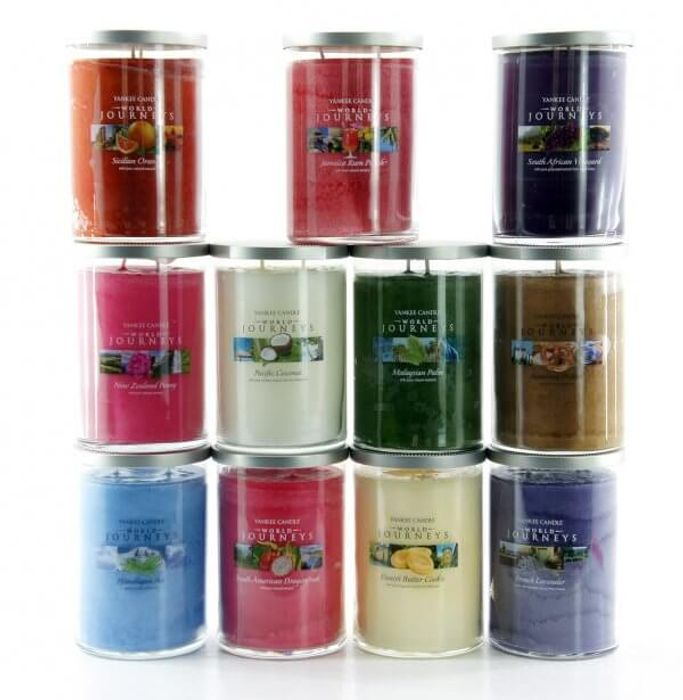 6 X Yankee Candle World Journey Large Twin Wick Candles