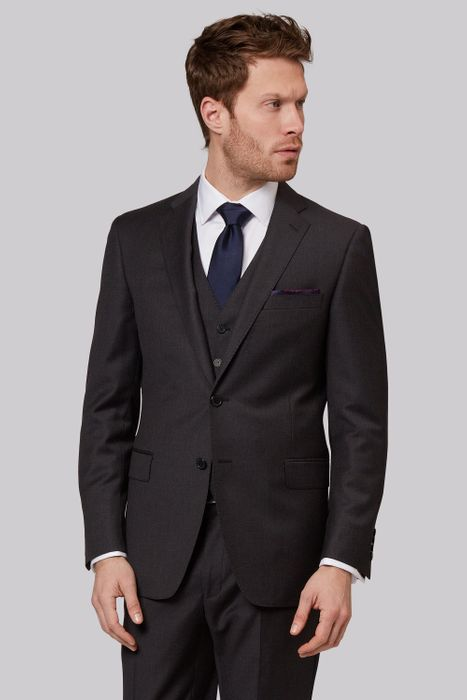 Savoy Taylors Guild Regular Fit Charcoal Suit