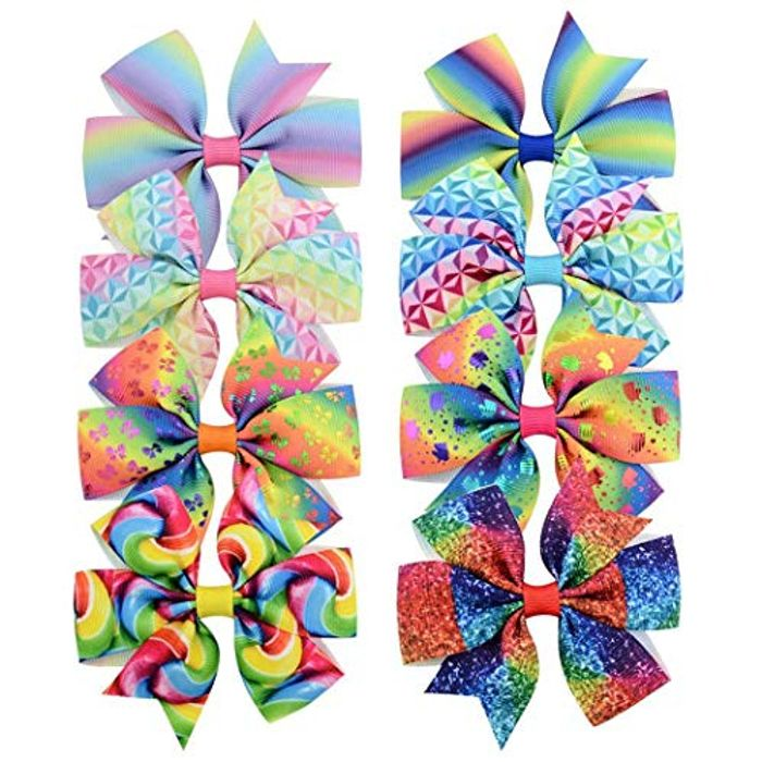 8 Pack of Hair Bows