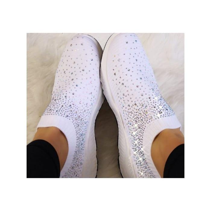 Lemonade Crystal Sizzle Sock Sneakers