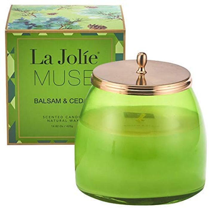 La Jole Muse Scented Candle Large 420g, Cedar Balsam Forest Soy Wax