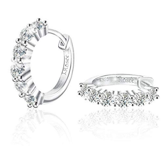 925 Sterling Silver and Cubic Zirconia Earrings