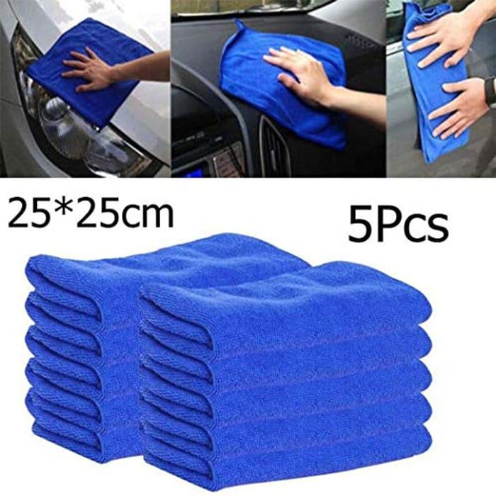 Car Microfiber Cleaning Cloth - 5 PCS/Pack