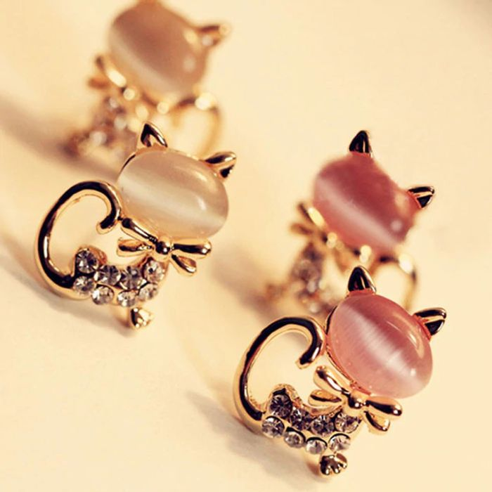 Cat Stone Earrings