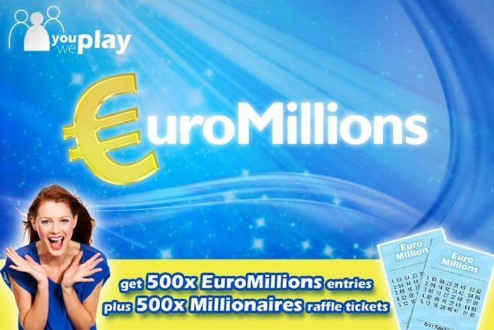 500 EuroMillions Lines & 500 Millionaires Raffle Tickets