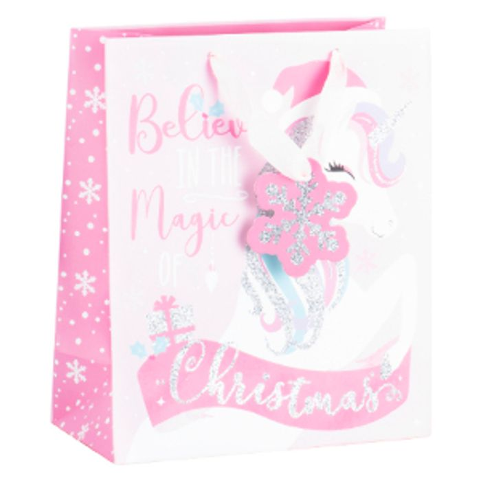 Festive Unicorn Gift Bag
