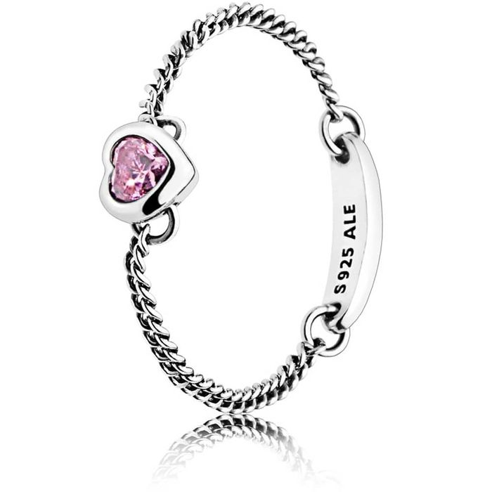 Pandora Pink Spirited Heart Ring 197191pcz