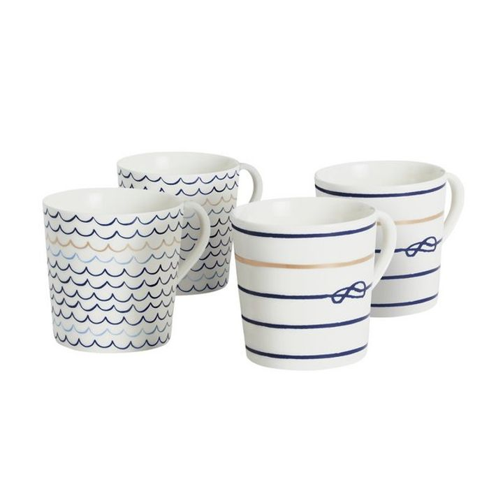 Sainsbury's Home Riviera Set of 4 Mugs - Blue