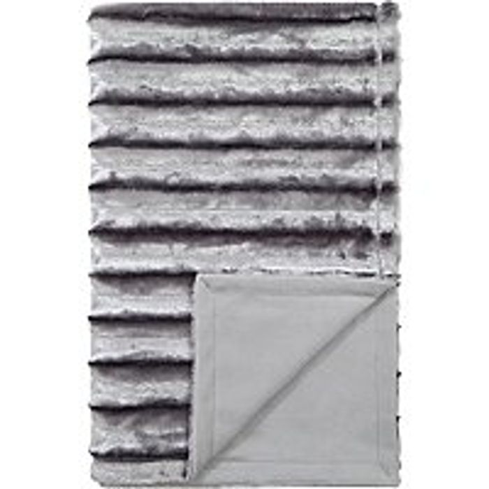 Ribbed Embossed Faux Fur Supersoft Throw £12 @Asda Free C+c