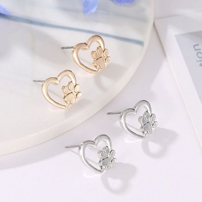 Cat Dog Paw Claw Earrings