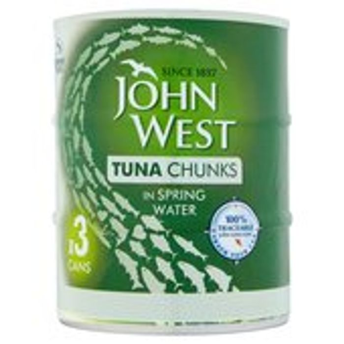 John West Tuna Chunks in Spring Water 3 X 145g