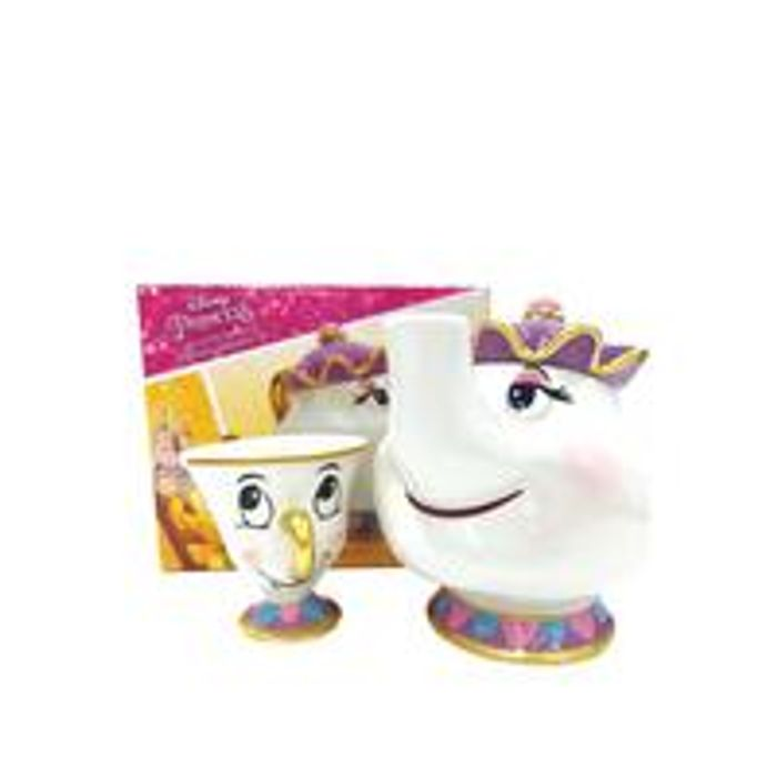 Mrs Potts Teapot and Chip Mug Set