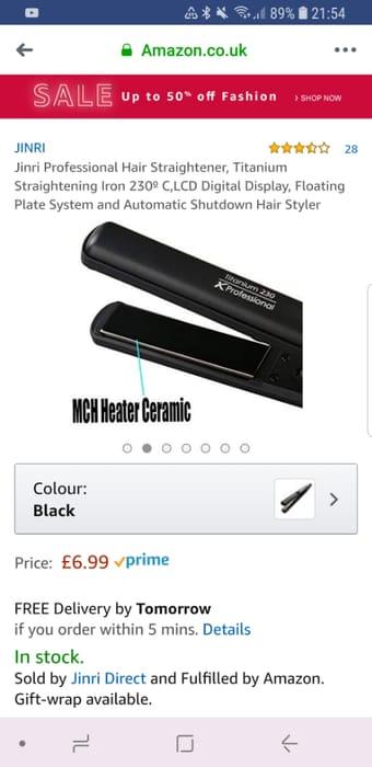 Professional Hair Straightener, £6 99 at Amazon   LatestDeals co uk