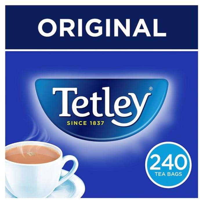 Tetley 240 Teabags 750G on Sale 14/01/19