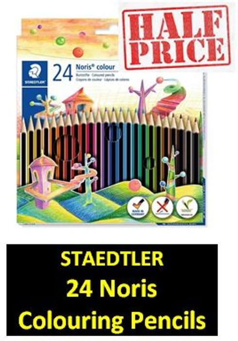 HALF PRICE at AMAZON: Staedtler Noris Colour Colouring Pencils (24 Pack)