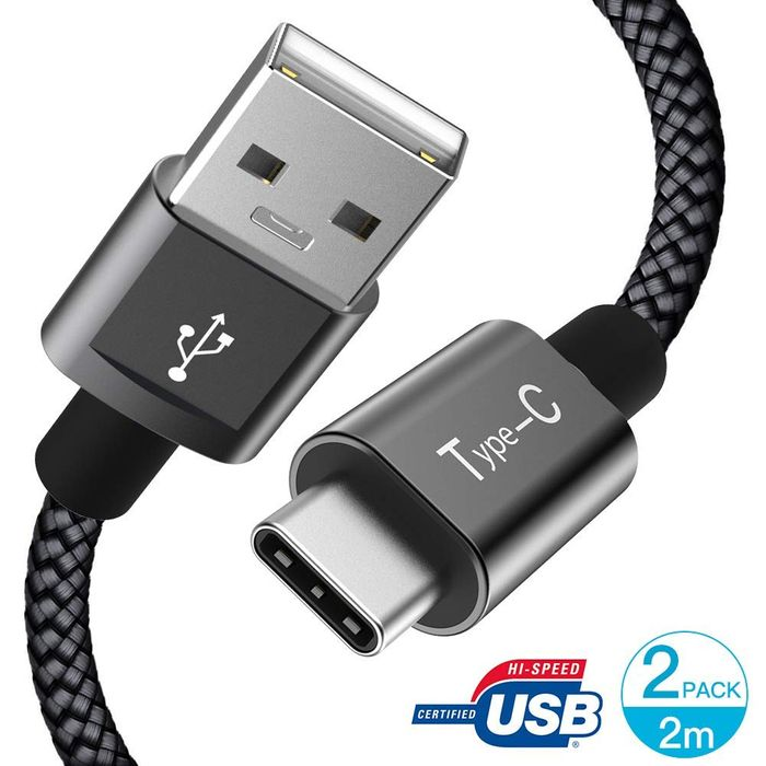 50% off 2 Pack 2m GlobaLink USB C Cable Durable Nylon Braided USB-if Certified
