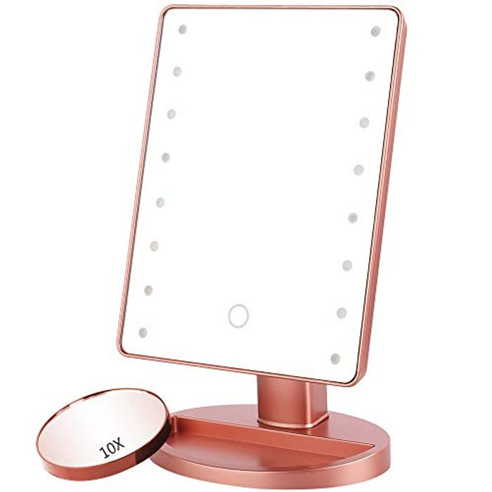 *Deal Stack* Makeup Mirror with 16 LED Light & Touch Screen