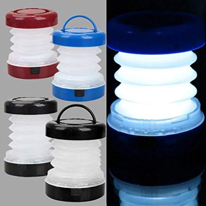 5 LEDs Folding Telescopic Camping Lamp Portable Tent Light Rain-Proof Lanterns