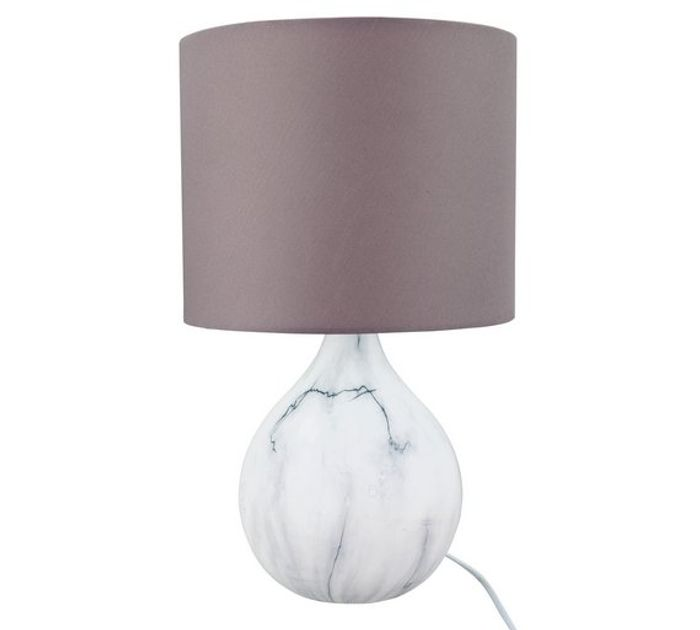 Argos Home March Ceramic Marble Effect Table Lamp - Grey Only £4.00