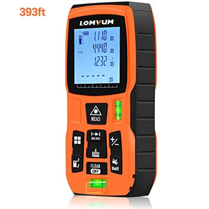 60% off 120m 393ft Laser Measure Distance Meter