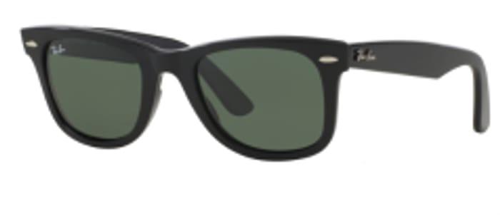 Ray-Ban Wayfarer 2140 Sunglasses Black/Green 50mm