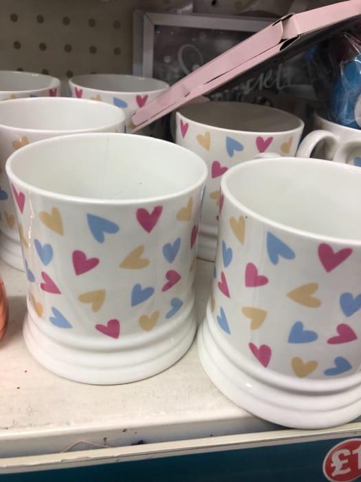 Poundland - Heart Mugs