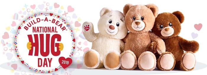 National Hug Day at Build-a-Bear 20th-21st January